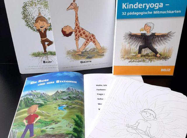Kinderyogakarten im Buchhandel